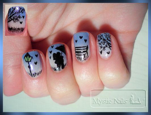 nail art nuit romantique